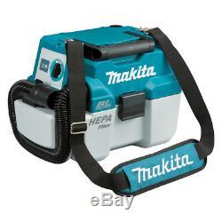 Makita Dvc750lx1 18v Balai Aspirateur Sec / Humide, Portable, Dépoussiérage
