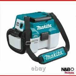 Makita Dvc750lz 18v Lxt Bl 7.5l L Classe Humide / Sec Aspirateur Boîtier Nu