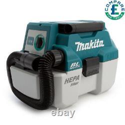 Makita Dvc750lz 18v Lxt Brushless 7,5l-class L-wet/dry Vacuum Cleaner Bare Unit