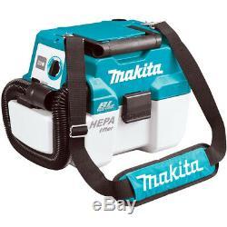 Makita Dvc750lz 18v Sans Fil Brushless L-class Humide / Sec Aspirateur Boîtier Nu