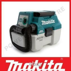 Makita Dvc750lz 18v Sans Fil L-class Humide / Sec Aspirateur Brushless Boîtier Nu