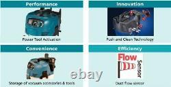 Makita Vc3012m 110v Classe M Wet & Dry Vacuum Cleaner Hoover Extracteur De Poussière 30l