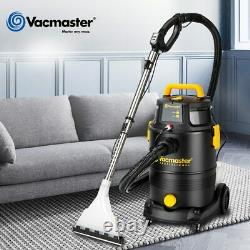 Ménage 30l 19000pa Dry/wet 2-in-1 Shampooing Tapis Puissant Aspirateur