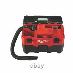 Milwaukee Cordless Wet Sry Vacuum Bare Unité M18vc2 7,5l Capacité