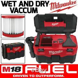 Milwaukee M18 Aspirateur Sans Fil Pour Déchets Secs Et Humides Extracteur De Poussière Hoover Hepafilter