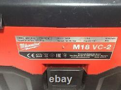 Milwaukee M18 Vc-2 7.5l Wet And Dry Vacuum 2019 Milwaukee M18 Vc-2 7.5l Wet And Dry Vacuum + 9ah Li-ion Battery /new Filter