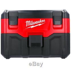Milwaukee M18vc2-0 De 7.5l Sans Fil Wet & Dry De Corps Aspirateur Uniquement