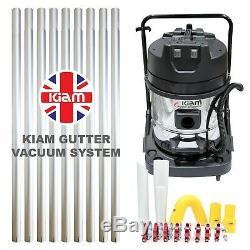 Nettoyage Kiam Gutter Kv60 Wet & Dry Aspirateur & 36ft 10,8m Pole Kit Système