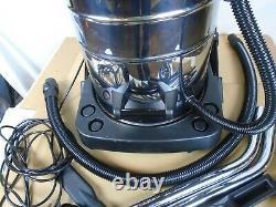 Nettoyeur À Vide Industriel Vac Humide Et Sec Acier Inoxydable Ultra Puissant 80l B0927