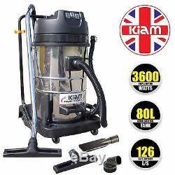 Nettoyeur À Vide Moteur Carwash Wet & Dry 3600w Hoover Kiam Kv80-3 80l