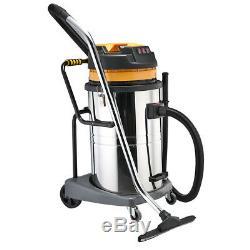 Nettoyeur Puissant D'aspirateur De Vide Humide Et Sec D'acier Inoxydable De 80l 3600w Industriel À La Maison