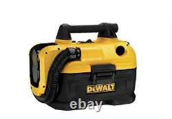 Nouveau Dewalt Durable 2-gallon Shop / Voiture Sous Vide Batterie Portable Vac Humide / Dry