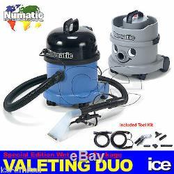 Numatic Car Valeting Kit D'équipement De Nettoyage Pour Aspirateur Duo Ct370-2 & Nvh2001