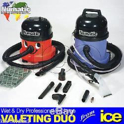 Numatic Car Valeting Vacuum Wet & Dry Duo 2 Ensemble De Deux Machines Ensemble D'outils A42