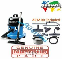 Numatic Charles Cvc370-2 Aspirateur Hoover Wet & Dry 3 En 1 Kit Bleu A21a