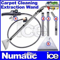 Numatic Cleantec Tapis Vaporiser Extraction Tuyau Outil Baguette Sol Fishtail Trigger