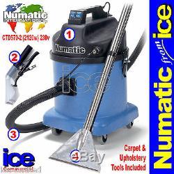 Numatic Ctd570-2 Tapis Capitonné Tissu Humide Sous Vide Shampooing Nettoyant Extraction