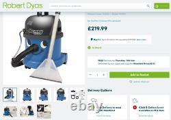 Numatic Henry Wash Wet Dry Vacuum Cleaner Hvw370 Presque Nouveau, Utilisé Une Fois