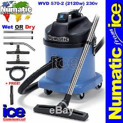 Numatic Wvd570 Professional Humide / Sec Duplex Commercial Industriel Aspirateur