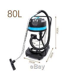 Puissant 80l Litres Wet & Dry Aspirateur Avec Ventilateur 3000watt En Acier Inoxydable