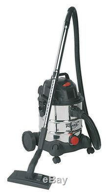 Sealey 20ltr 240v Industrial Wet & Dry Vide / Vac Cleaner + Accessoires Pc200sd