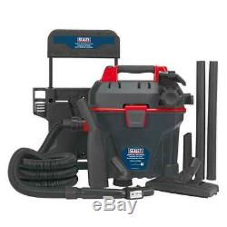 Sealey Garage Wet & Dry Aspirateur 1500w Avec Mur Télécommande De Montage