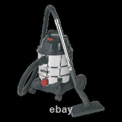 Sealey Pc200sd Aspirateur Industriel Humide Et Sec 20ltr 1250with230v Stainless