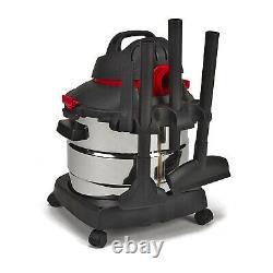 Shop Vac En Acier Inoxydable 8 Gallon 6 HP Humide À Sec Vide Nettoyant Pour Plancher Et Ventilateur