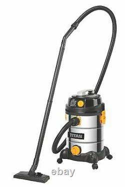 Titan Ttb785vac 1400w 30ltr Aspirateur Humide Et Sec 220-240v Flambant Neuf