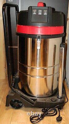 Wet Dry Vacuum Industrial Hoover 80 Litres 3000w Nettoyeur D'eau Sans Sac Inoxydable