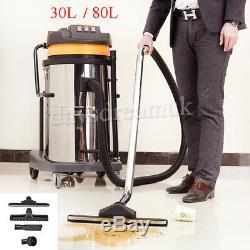 Wet & Dry Vacuum Vac Nettoyant Industriel 30l 80 Litres Commercial Puissant Au Royaume-uni